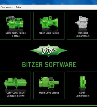 Bitzer Software selection